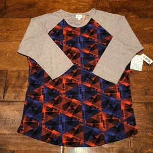LulaRoe Randy Baseball Tee, 2XL